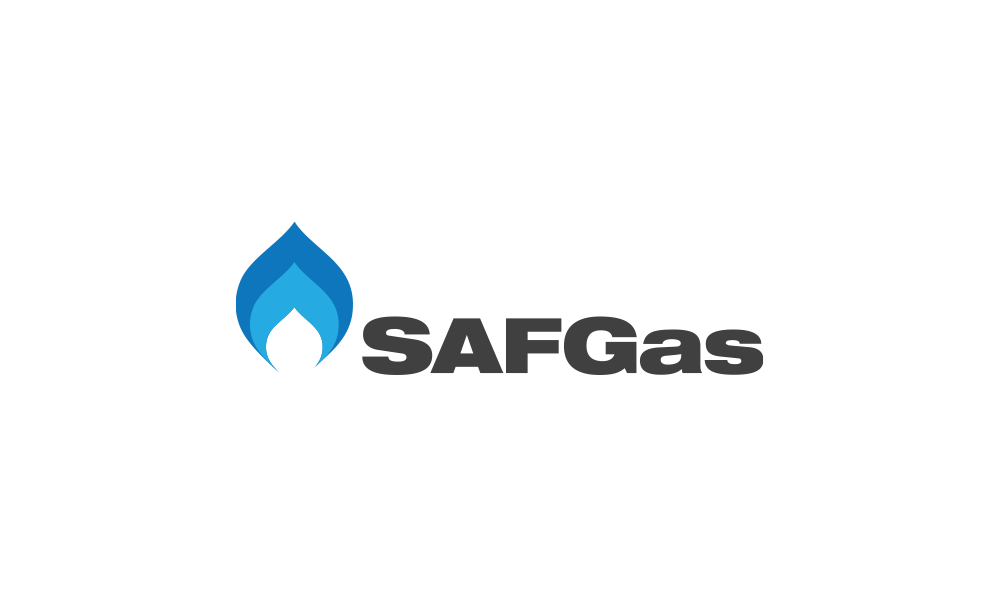 saf gas logo design