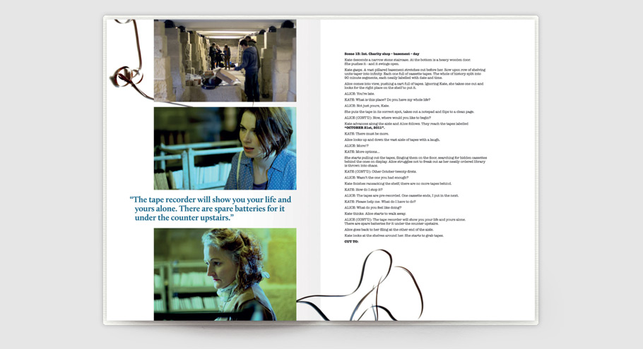 spread from stop eject script book starring georgina sherrington