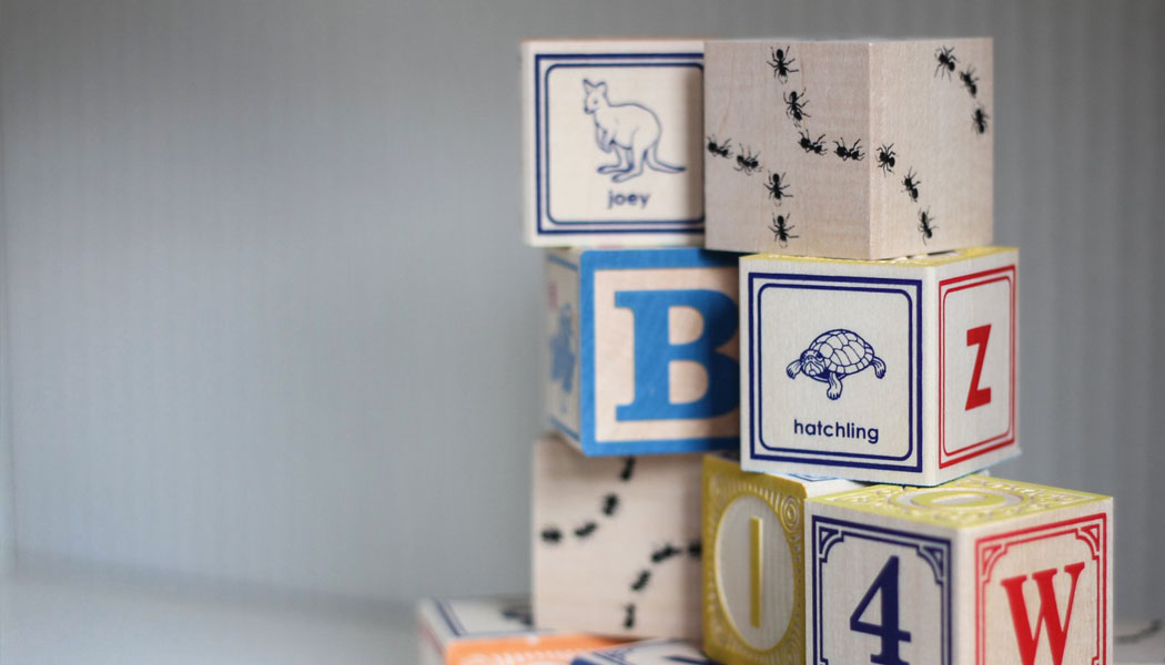 Uncle goose stacking wooden alphabet blocks
